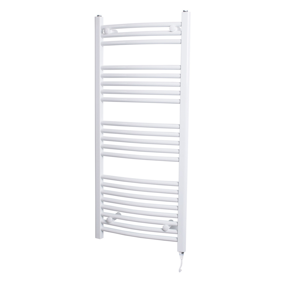 Marco 1150 x 500 Curved White Heated Towel Rail