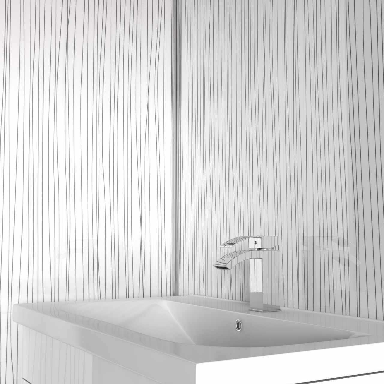 White Strings Wall Panel 1000x2400x10mm