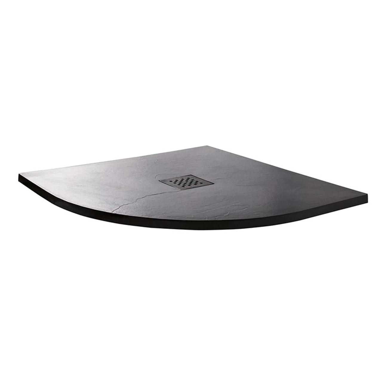 Wholestone Slate 900mm x 900mm Anthracite Quadrant Shower Tray