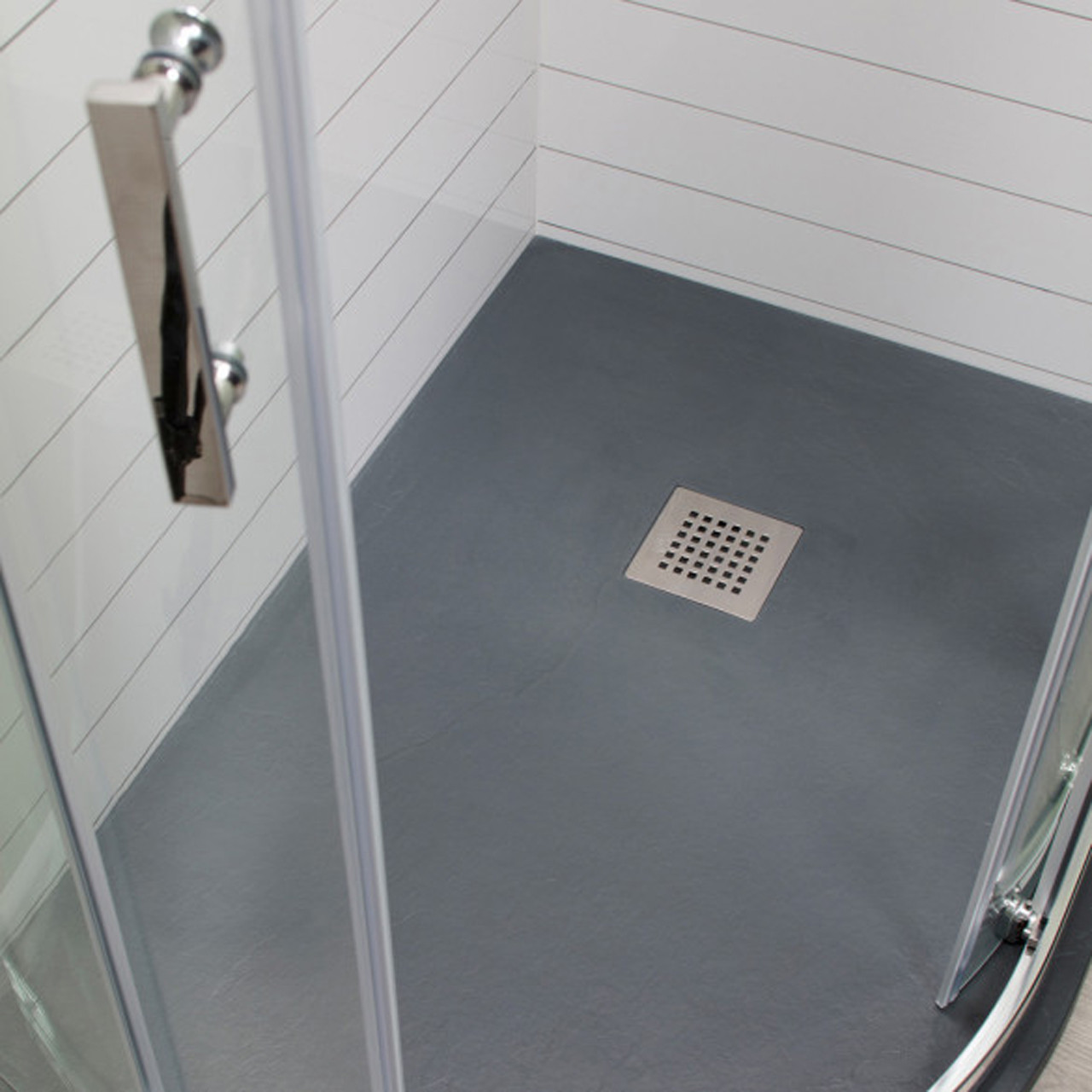 Wholestone Slate Left Hand 1200mm x 900mm Anthracite Offset Quadrant Shower Tray