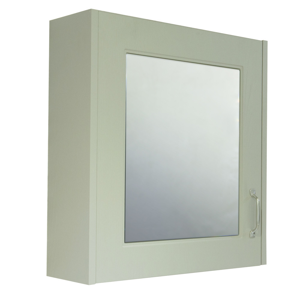 Windsor Traditional Grey 600 1 Door Mirror Cabinet