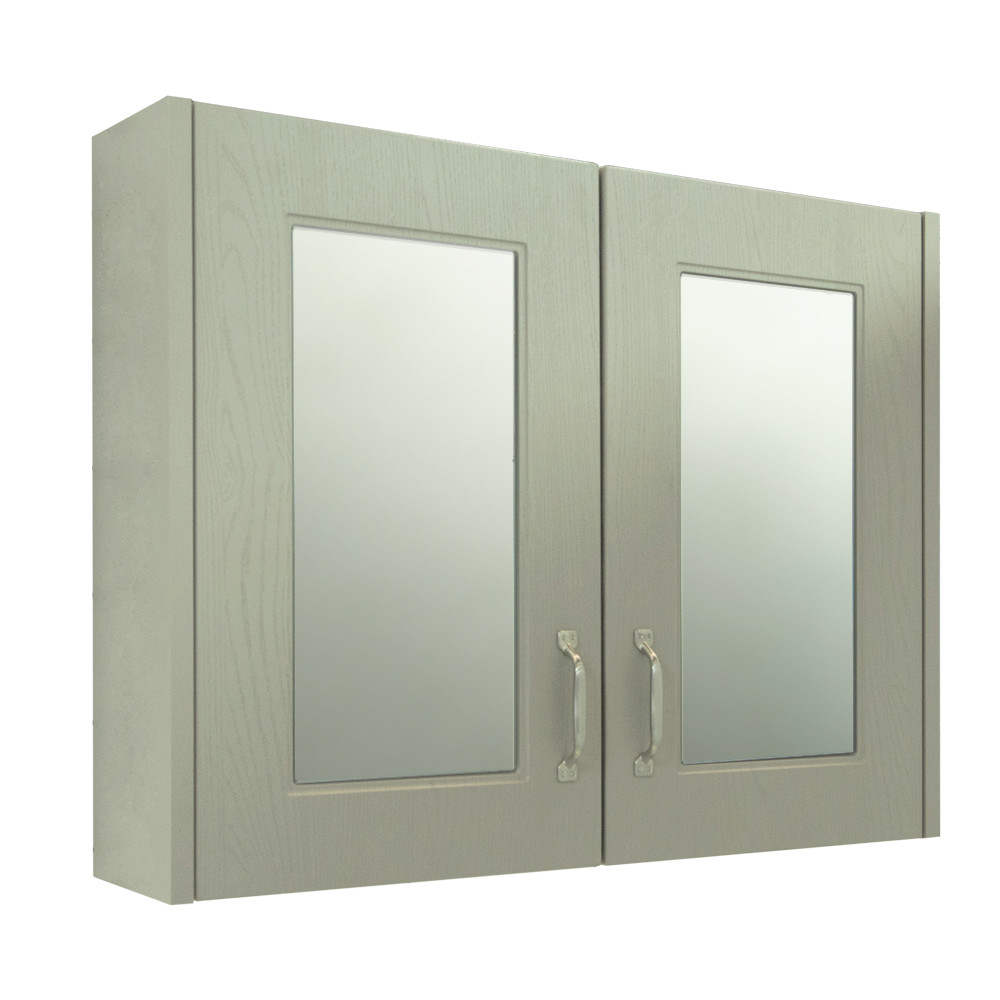 Windsor Traditional Grey 800 2 Door Mirror Cabinet