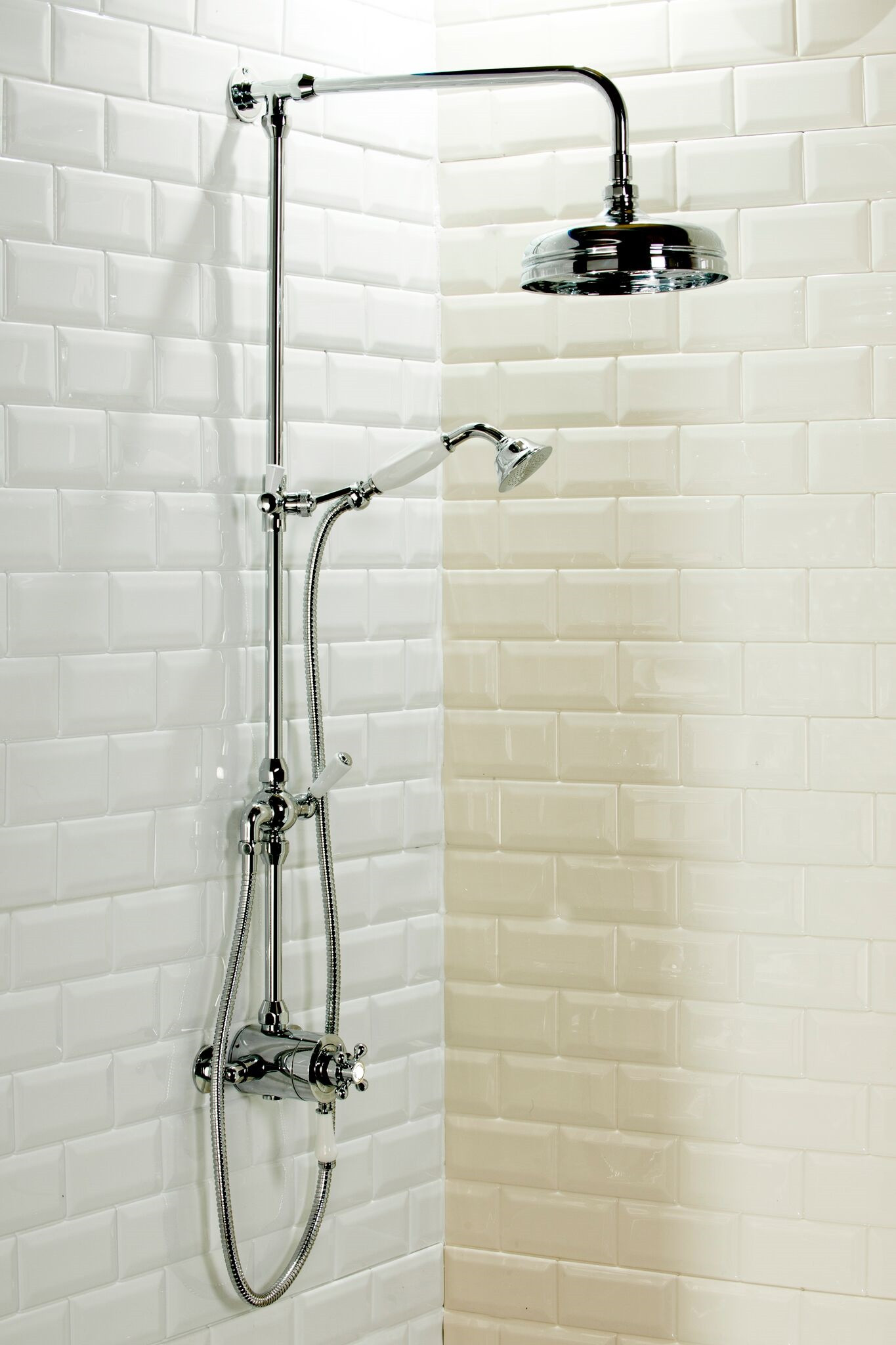 Windsor Exposed Thermostatic Valve And Rigid Riser Kit With Diverter