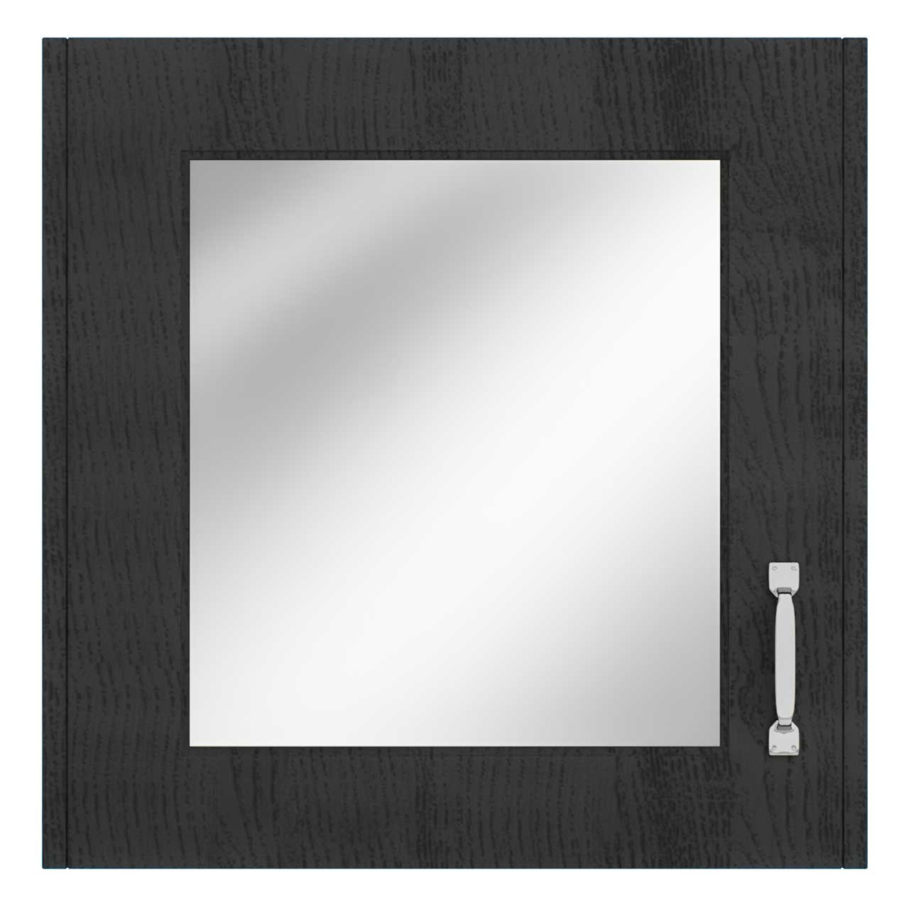 Windsor Traditional Dark Grey 600mm Single Door Mirror Cabinet