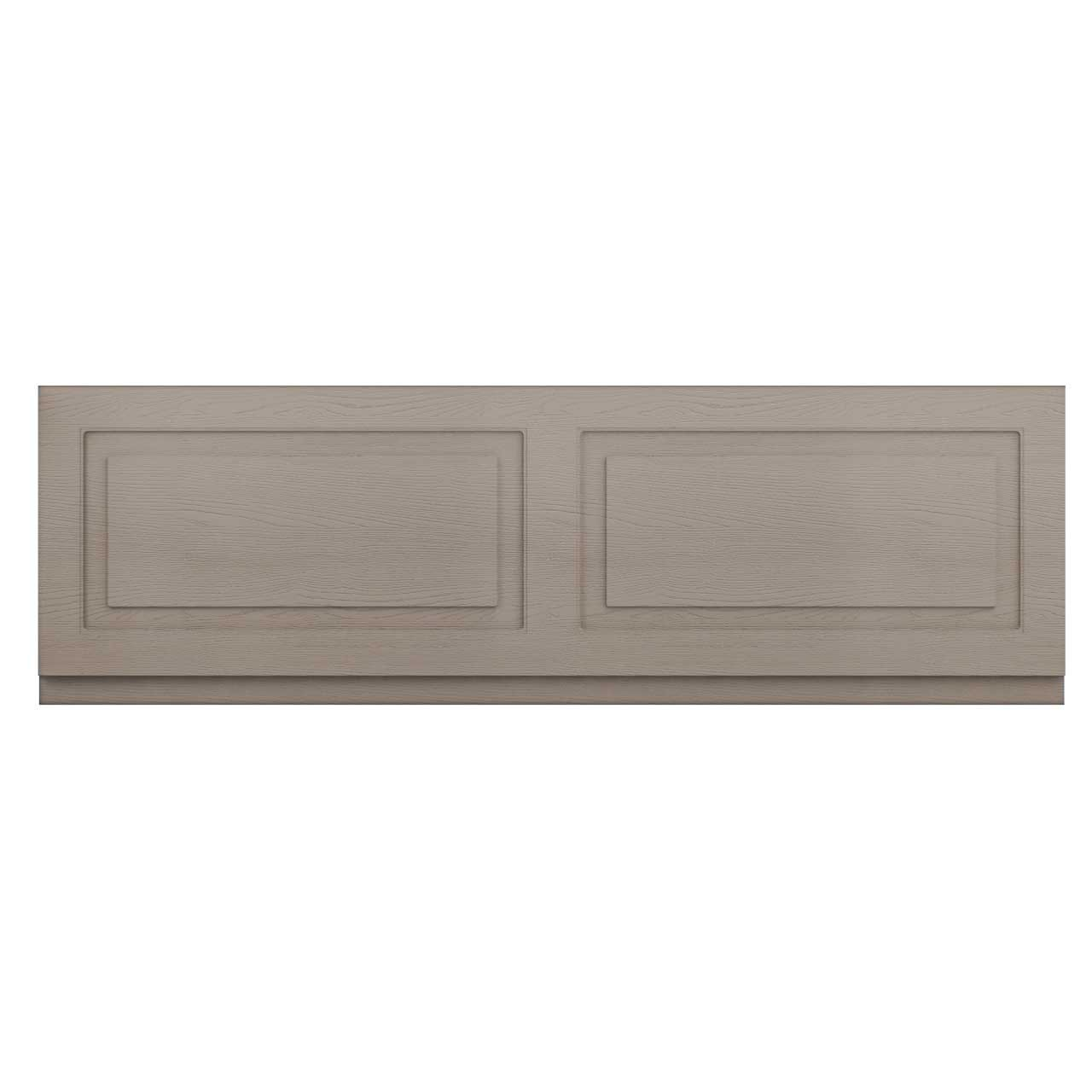 Windsor Traditional Stone Grey 1700mm Front Bath Panel with Plinth
