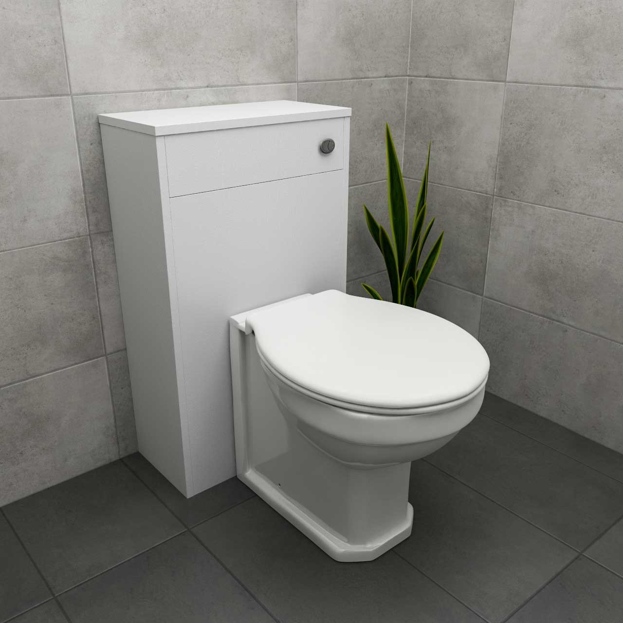 Windsor Traditional White 500mm Toilet Unit