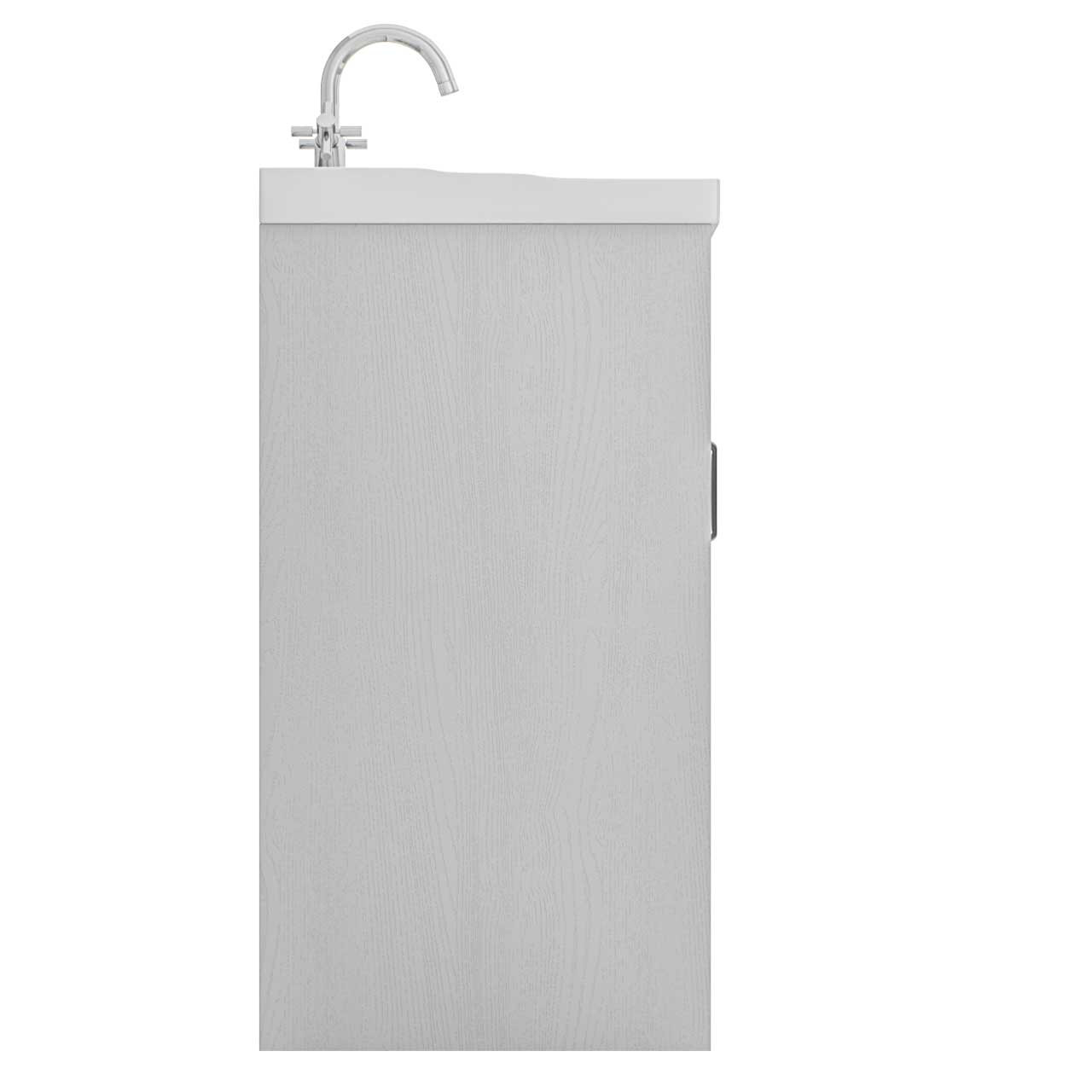 Windsor Traditional White 600mm 2 Door Vanity Unit and Basin with 1 Tap Hole