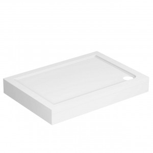 40mm Pearlstone 1000 x 700 Rectangular Shower Tray & Plinth