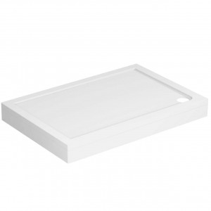 40mm Pearlstone 1200 x 800 Rectangular Shower Tray & Plinth