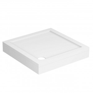 40mm Pearlstone 760 x 760 Square Shower Tray & Plinth