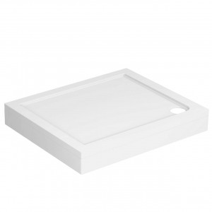 40mm Pearlstone 900 x 760 Rectangular Shower Tray & Plinth