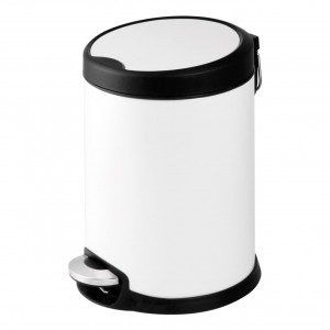 Aero Collection White 3 Litre Pedal Bin