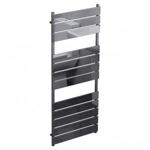 Amaldi Black Nickel 1200mm x 500mm Heated Towel Rail