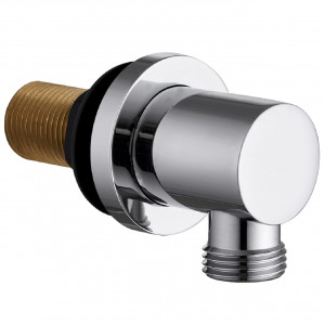Deluxe Chrome Round Shower Elbow
