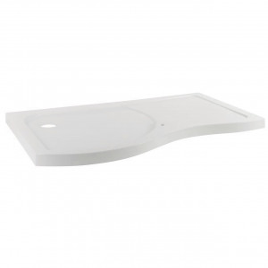 Desire 1400mm Left Hand Curved Walk In Shower Tray