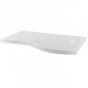 Desire 1400mm Right Hand Curved Walk In Shower Tray