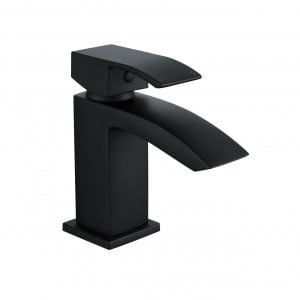 Flow Black Mini Mono Basin Mixer Tap
