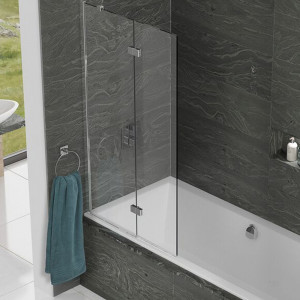 Kudos Inspire 6mm 875mm Left Hand Two Panel Infold Bath Screen