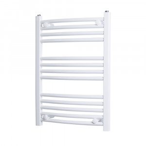 Marco 700 x 500 Curved White Heated Towel Rail