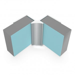 Multipanel Classic 11mm Wall Panel Internal Corner Trim Type A Satin Anodised