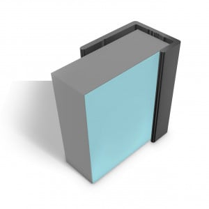 Multipanel Reflect 4mm Wall Panel End Cap Trim Type 14 Black