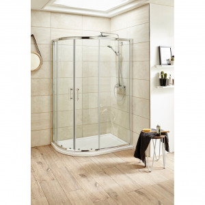 Nuie Pacific 1000mm x 900mm Offset Quadrant Shower Enclosure - AQU109
