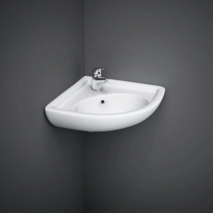 RAK Compact Corner Basin with 1 Tap Hole - COMCNRB1