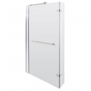 Square Shower Bath Hinged Screen With Towel Rail