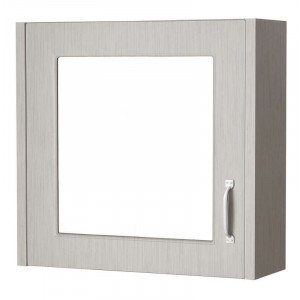 Windsor Traditional Stone Grey 600mm Single Door Mirror Cabinet