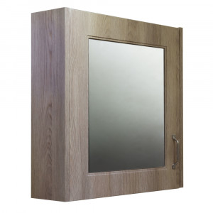 Windsor Traditional Oak 600mm Single Door Mirror Cabinet