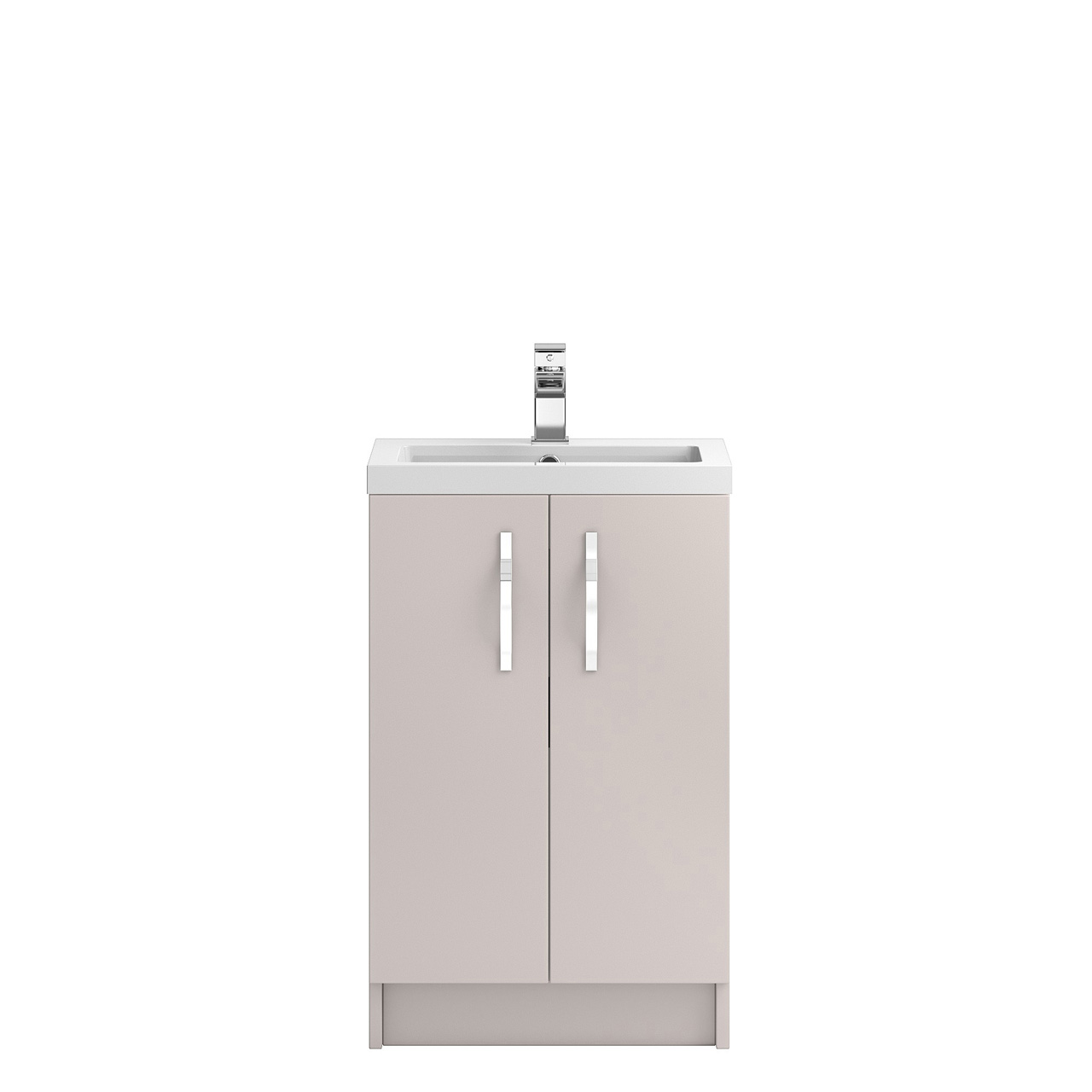 Hudson Reed Apollo Cashmere 500mm Floor Standing 2 Door Vanity Unit With 40mm Profile Basin Apl722