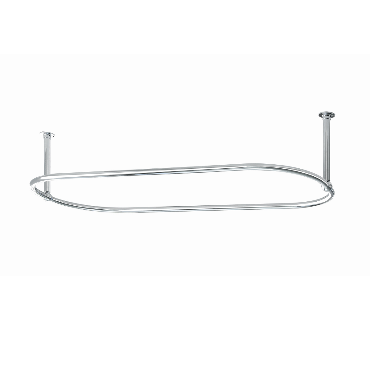 Traditional Oval Shower Curtain Rail 1500mm X 700mm