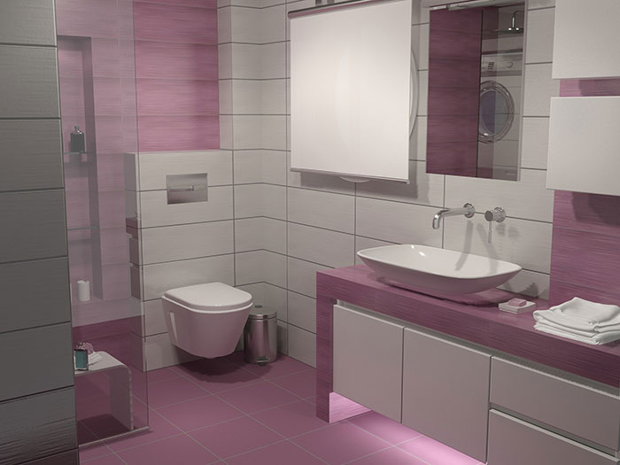 Purple Bathroom Tiles