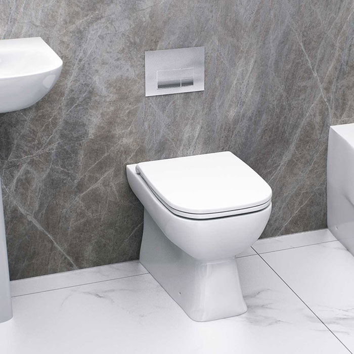 Cloakroom bathroom- reduced projection toilet