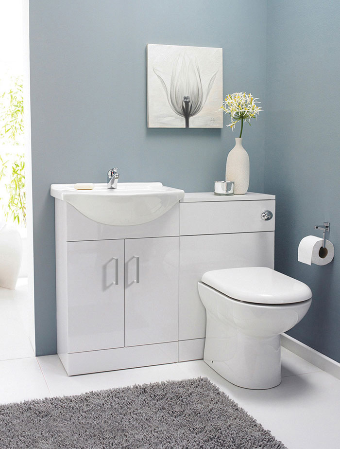 Cloakroom bathroom- vanity toilet unit