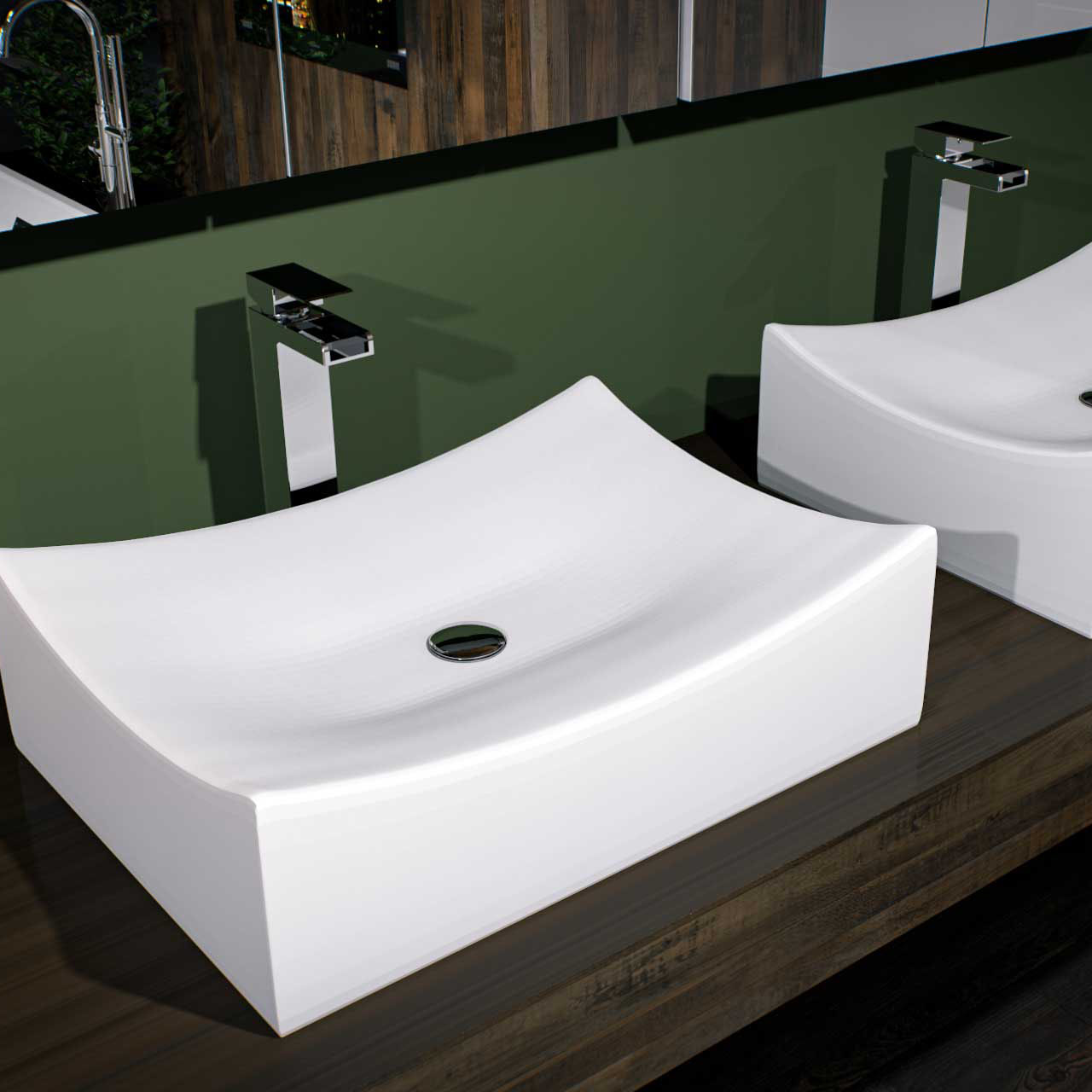 Silves Square Counter Top Basin Modern Style