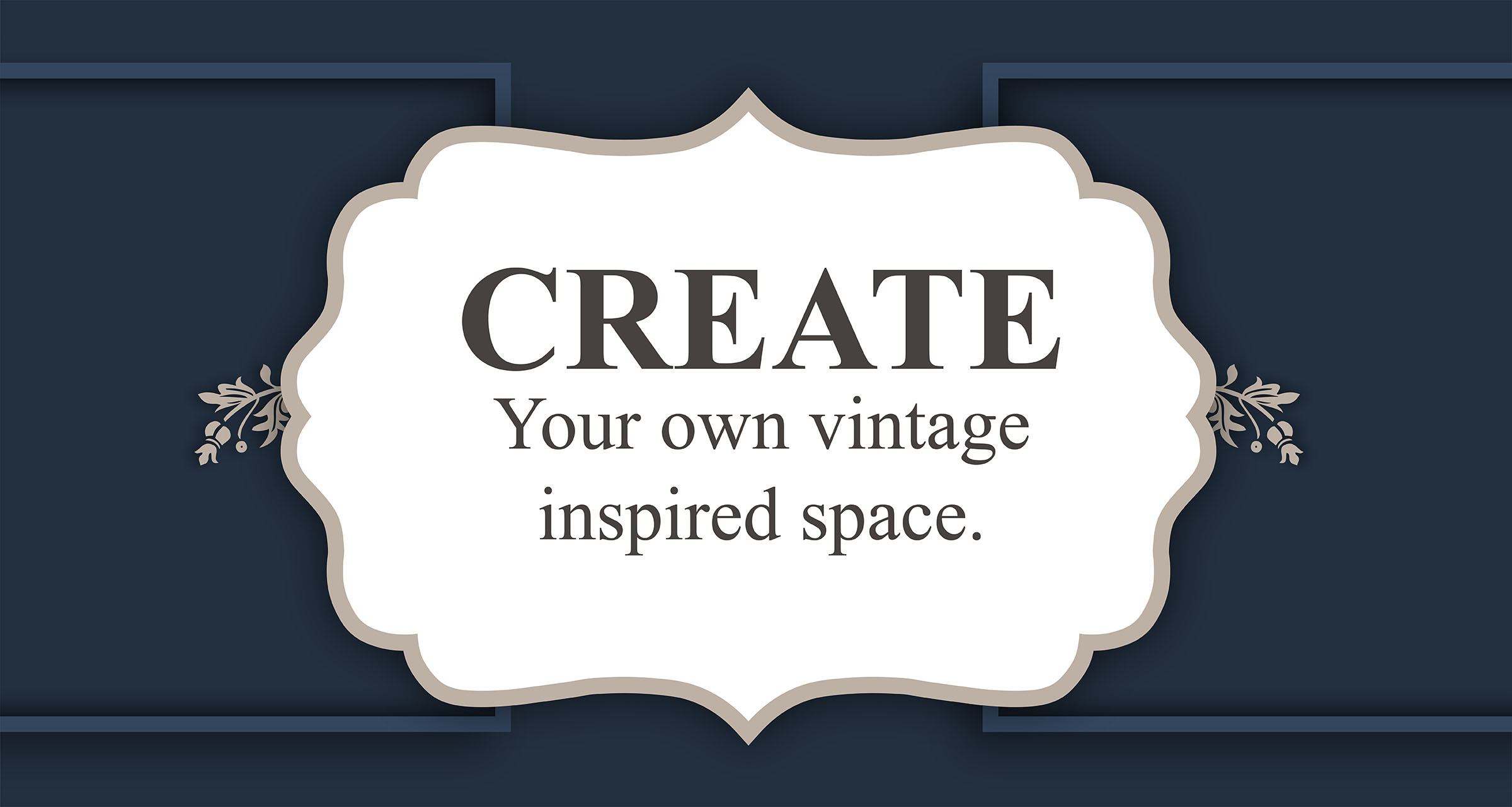 Create your own vintage inspired space