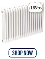 Colosseum White 600mm x 812mm Horizontal Double Panel Radiator